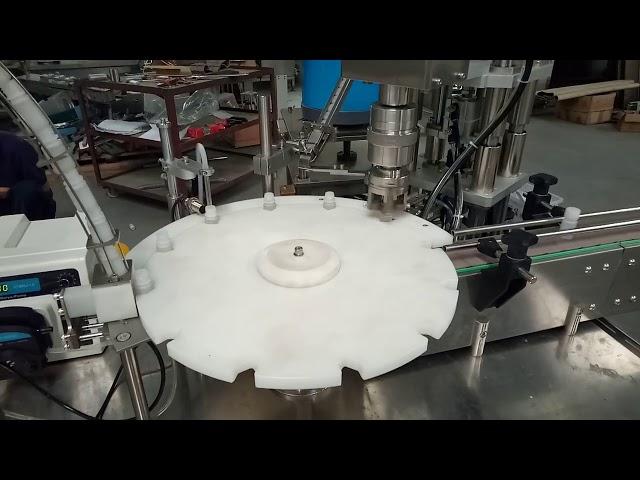 confezionatrice tappatrice di riempimento tappatura automatica piena 10ml 20ml 25ml di vendita calda