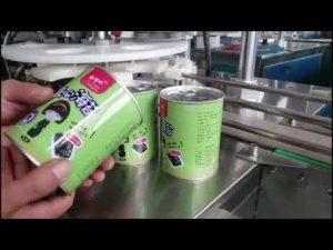 riempitrice automatica di bottiglie di liquido cosmetico con tappatore