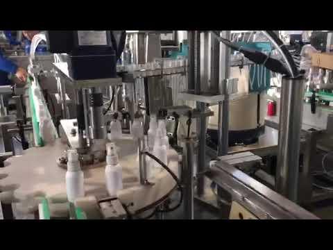 macchina di riempimento liquido disinfettante, macchina di riempimento disinfettanti etanolo
