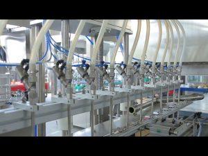 macchina per il riempimento di bottiglie di alcol con sapone liquido disinfettante per le mani