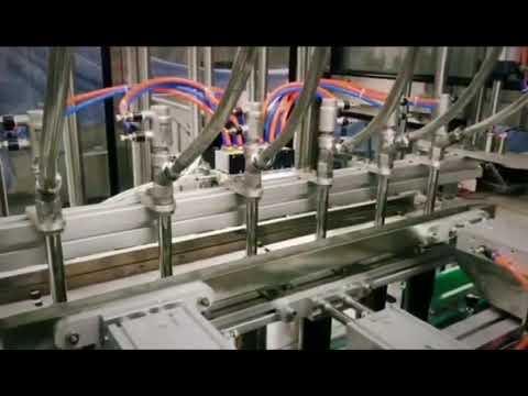 Imbottigliatrice liquida viscosa olio detergente lineare a pistone, shampoo, olio lubrificante