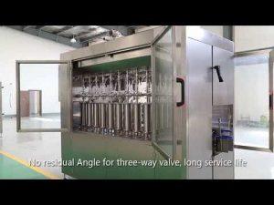 linea automatica etichettatrice tappatura riempimento olio liquido bottiglia pet vetro pistone