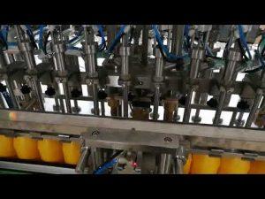Riempitrice automatica di bottiglie a 12 teste per cosmetici con salsa di oli di ketchup