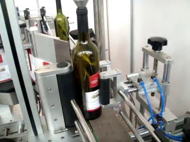 etichettatrice automatica ad alta velocità a doppia faccia e rotonda