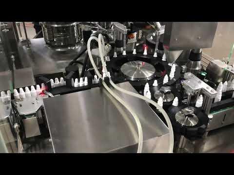 tappatrice per il riempimento di colliri farmaceutici per flaconcino da 20 ml